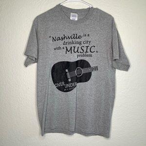 Nashville TN Music Drinking T Shirt M